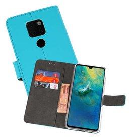 Wallet Cases Hoesje Huawei Mate 20 Blauw