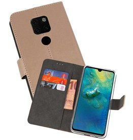 Wallet Cases Hoesje Huawei Mate 20 Goud