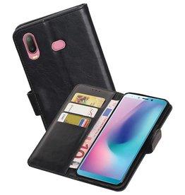 Zakelijke Bookstyle Hoesje Samsung Galaxy A6s Zwart