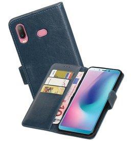 Zakelijke Bookstyle Hoesje Samsung Galaxy A6s Blauw