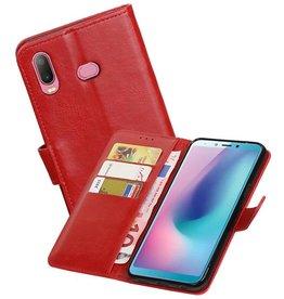 Zakelijke Bookstyle Hoesje Samsung Galaxy A6s Rood