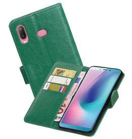 Zakelijke Bookstyle Hoesje Samsung Galaxy A6s Groen