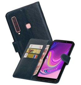 Zakelijke Bookstyle Hoesje Samsung Galaxy A9 2018 Blauw
