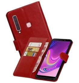 Zakelijke Bookstyle Hoesje Samsung Galaxy A9 2018 Rood