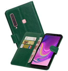 Zakelijke Bookstyle Hoesje Samsung Galaxy A9 2018 Groen