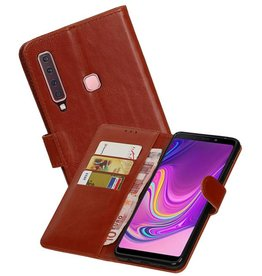 Zakelijke Bookstyle Hoesje Samsung Galaxy A9 2018 Bruin