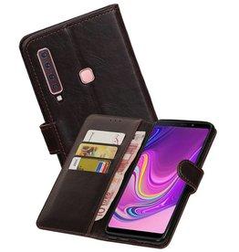 Zakelijke Bookstyle Hoesje Samsung Galaxy A9 2018 Mocca
