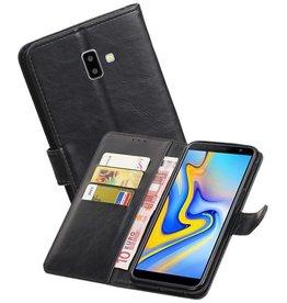 Zakelijke Bookstyle Hoesje Samsung Galaxy J6 Plus Zwart