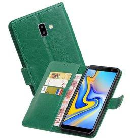 Zakelijke Bookstyle Hoesje Samsung Galaxy J6 Plus Groen