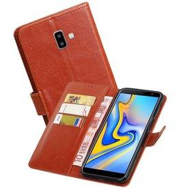 Zakelijke Bookstyle Hoesje Samsung Galaxy J6 Plus Bruin