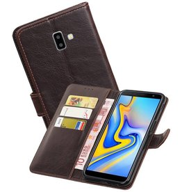 Zakelijke Bookstyle Hoesje Samsung Galaxy J6 Plus Mocca