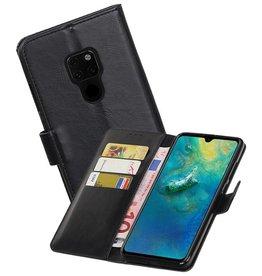 Zakelijke Bookstyle Hoesje Huawei Mate 20 Zwart