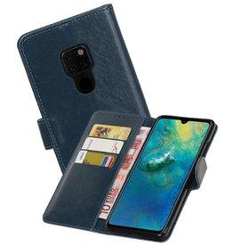 Zakelijke Bookstyle Hoesje Huawei Mate 20 Blauw