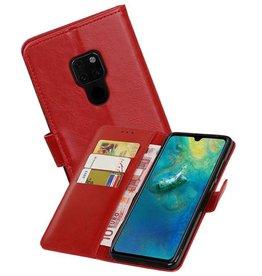 Zakelijke Bookstyle Hoesje Huawei Mate 20 Rood