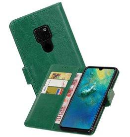 Zakelijke Bookstyle Hoesje Huawei Mate 20 Groen