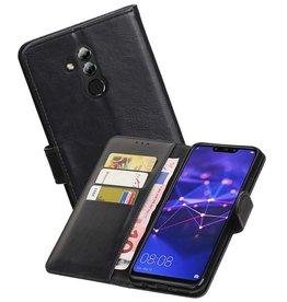 Zakelijke Bookstyle Hoesje Huawei Mate 20 Lite Zwart
