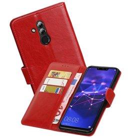 Zakelijke Bookstyle Hoesje Huawei Mate 20 Lite Rood