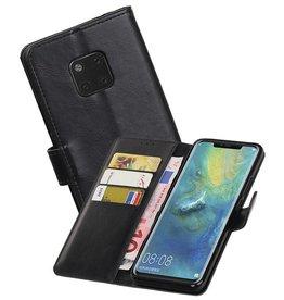 Zakelijke Bookstyle Hoesje Huawei Mate 20 Pro Zwart