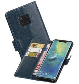 Zakelijke Bookstyle Hoesje Huawei Mate 20 Pro Blauw