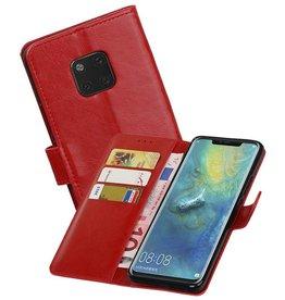 Zakelijke Bookstyle Hoesje Huawei Mate 20 Pro Rood