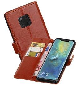 Zakelijke Bookstyle Hoesje Huawei Mate 20 Pro Bruin