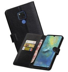 Zakelijke Bookstyle Hoesje Huawei Mate 20 X Zwart