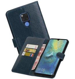 Zakelijke Bookstyle Hoesje Huawei Mate 20 X Blauw