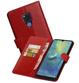 Zakelijke Bookstyle Hoesje Huawei Mate 20 X Rood
