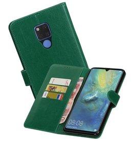 Zakelijke Bookstyle Hoesje Huawei Mate 20 X Groen