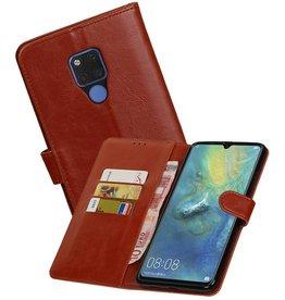 Zakelijke Bookstyle Hoesje Huawei Mate 20 X Bruin