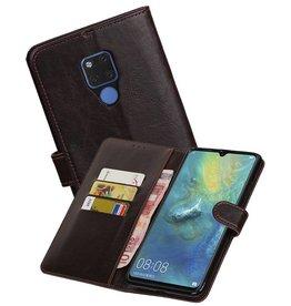 Zakelijke Bookstyle Hoesje Huawei Mate 20 X Mocca