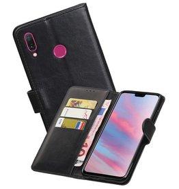 Zakelijke Bookstyle Hoesje Huawei Y9 2019 Zwart