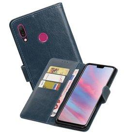 Zakelijke Bookstyle Hoesje Huawei Y9 2019 Blauw