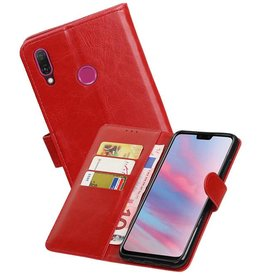 Zakelijke Bookstyle Hoesje Huawei Y9 2019 Rood
