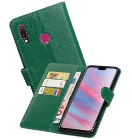 Zakelijke Bookstyle Hoesje Huawei Y9 2019 Groen