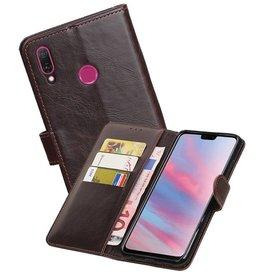 Zakelijke Bookstyle Hoesje Huawei Y9 2019 Mocca