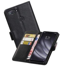 Zakelijke Bookstyle Hoesje XiaoMi Mi 8 Lite Zwart