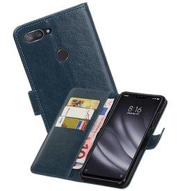 Zakelijke Bookstyle Hoesje XiaoMi Mi 8 Lite Blauw