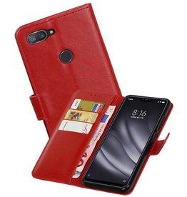 Zakelijke Bookstyle Hoesje XiaoMi Mi 8 Lite Rood