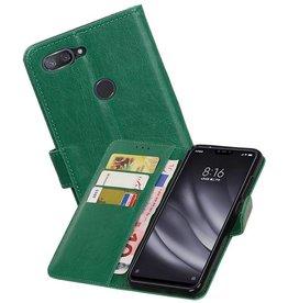 Zakelijke Bookstyle Hoesje XiaoMi Mi 8 Lite Groen