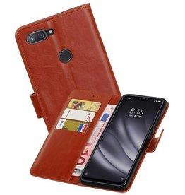 Zakelijke Bookstyle Hoesje XiaoMi Mi 8 Lite Bruin