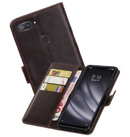 Zakelijke Bookstyle Hoesje XiaoMi Mi 8 Lite Mocca