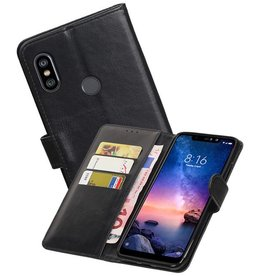 Zakelijke Bookstyle Hoesje XiaoMi Redmi Note 6 Pro Zwart
