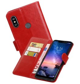 Zakelijke Bookstyle Hoesje XiaoMi Redmi Note 6 Pro Rood