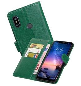 Zakelijke Bookstyle Hoesje XiaoMi Redmi Note 6 Pro Groen