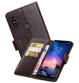 Zakelijke Bookstyle Hoesje XiaoMi Redmi Note 6 Pro Mocca
