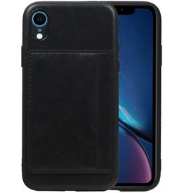 Staand Back Cover 1 Pasjes iPhone XR Zwart