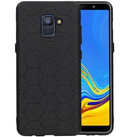 Hexagon Hard Case Samsung Galaxy A8 Plus 2018 Zwart