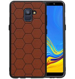 Hexagon Hard Case Samsung Galaxy A8 Plus 2018 Bruin