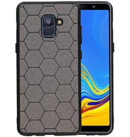 Hexagon Hard Case Samsung Galaxy A8 Plus 2018 Grijs